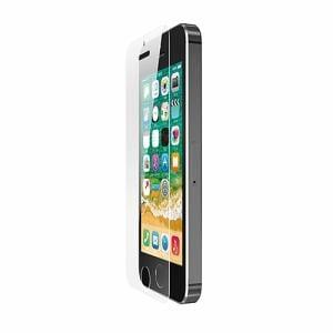 エレコム PM-A18SFLGGBL iPhone SE用ガラスフィルム 0.33mm/BLカット