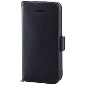 エレコム PM-A18SPLFYBK iPhone SE/ 5s/ 5用 ソフトレザーカバー 磁石付(ブラック)
