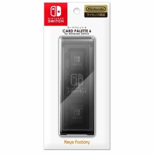 キーズファクトリー NC6-001-1 カードパレット 6 for Nintendo Switch ブラック