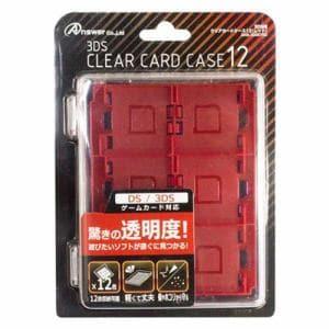 アンサー ANS-3D087RD 3DS用 クリアカードケース12 レッド