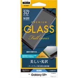 ラスタバナナ 3S1118GS9P Galaxy S9+(SC-03K/ SCV39)用 強化ガラス 液晶保護フィルム 高光沢(ブラック)