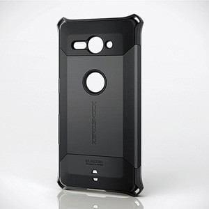 エレコム PD-XZ2CZEROBK Xperia XZ2 Compact(SO-05K)用 ZEROSHOCKケース スタンダード(ブラック) PD-XZ2CZEROシリーズ