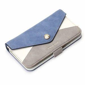 PGA PG-17MFP80BL iPhone 8/7/6s/6用 フリップカバー レター型ポケット(ブルー)