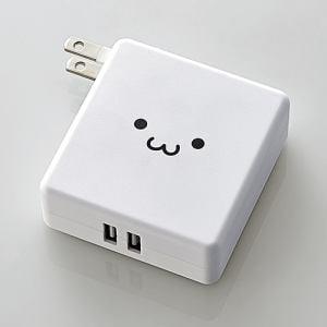 エレコム DE-AC01-N2924WF AC充電器一体型モバイルバッテリー ホワイトフェイス