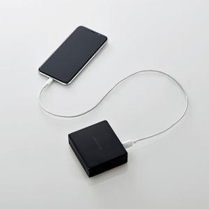 エレコム DE-AC01-N5824BK AC充電器一体型モバイルバッテリー ブラック