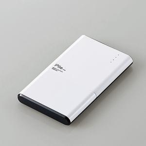 """エレコム DE-M05-N3015WH モバイルバッテリー""""Pile one"""" ホワイト"""