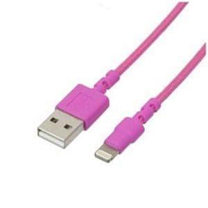 ナカバヤシ LNC-W10P 充電・データ通信用ライトニングケーブル  1.0m ピンク