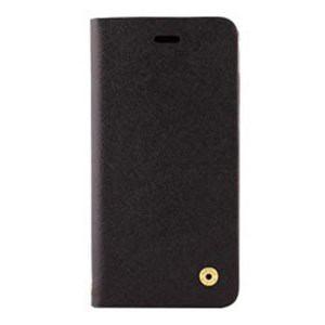 オウルテック OWL-CVIP804-BK iPhone X用 手帳型ケース サフィアーノ柄 ブラック