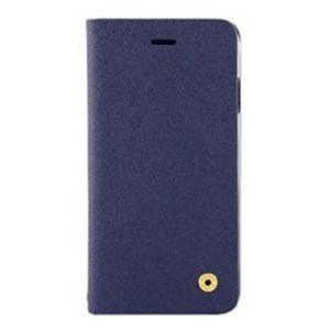 オウルテック OWL-CVIP804-NV iPhone X用 手帳型ケース サフィアーノ柄 ネイビー
