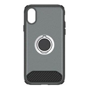オウルテック OWL-CVIP829-GM iPhone X用 背面ケース ガンメタルグレー