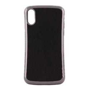 オウルテック OWL-CVIP831-BK iPhone X用 背面ケース 耐衝撃 ブラック