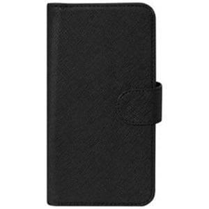 オウルテック OWL-CVMUM08-BK スマートフォン用 PUレザースライド式 手帳型マルチケース ブラック