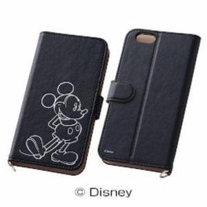 レイ・アウト iPhone 6/6s ディズニーホットスタンプブックレザー/ミッキー RT-DP7I/MK