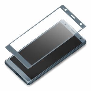 PGA PG-XZ2GL03 Xperia XZ2用 3D液晶全面保護ガラス PETフレーム グリーン
