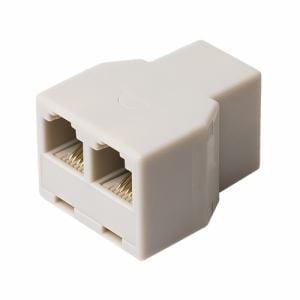 ミヨシ DA-41/WH 6極4芯対応 電話機コード分配アダプタ ケーブル接続タイプ ホワイト