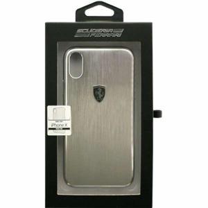 エアージェイ FEHALHCPXSI iPhone X用 FERRARI アルミハードケース シルバー