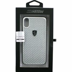 エアージェイ フェラーリ FEHCAHCPXSI iPhone X ガラスファイバーハードケース シルバー