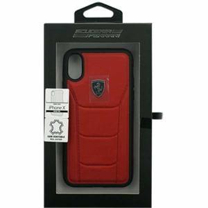 エアージェイ フェラーリ FEH488HCPXRE iPhoneX専用 488 本革ハードケース レッド