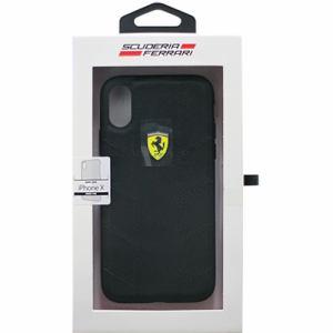 エアージェイ フェラーリ FESCODHCPXBK iPhoneX専用 ナイロンハードケース ブラック