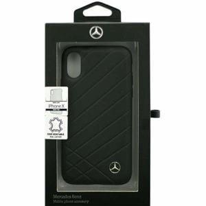 エアージェイ MEHCPXCLIBK iPhone X用 MERCEDES BENZ 本革ハードケース   ブラック