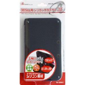 アンサー ANS-3D030BK 3DSLL用 シリコンプロテクト3L(クリアブラック)