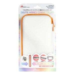 アンサー ANS-2D006WO new2DSLL用 セミハードケース スリム ホワイト×オレンジ