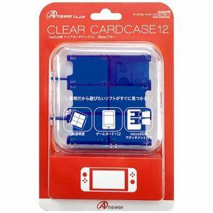 アンサー ANS-SW045BL Nintendo Switch用 クリアカードケース12 ブルー