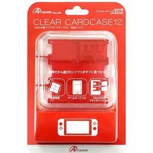 アンサー ANS-SW045RD Nintendo Switch用 クリアカードケース12 レッド