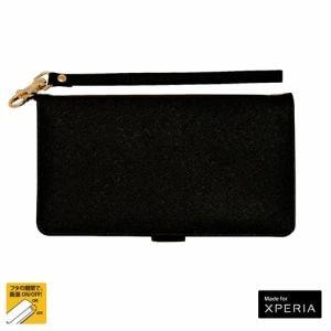 ラスタバナナ 3979XZ2P エクスペリア XZ2 プレミアム 手帳型スマホケース ハンドストラップ付き ブラック