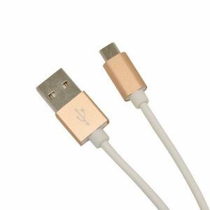 ラスタバナナ R12CAAM2A01GD 充電・通信ケーブル TypeA - microUSB 1.2m ゴールド