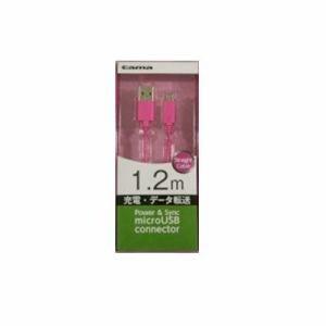 多摩電子工業 microUSB 充電・同期ケーブル ストレートタイプ 1.2m[ピンク] KH59SST12P