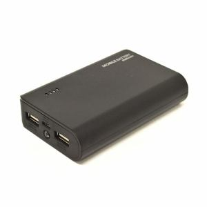 ラスタバナナ RLI060M2A01BK モバイルバッテリー 6000mAh 2A+1A出力   ブラック