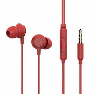 MSソリューションズ iPhone/スマートフォンイヤフォン極の音域PLAINプレーンレッド