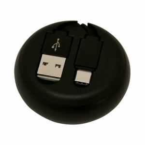 ラスタバナナ R08CAC2AR01BK Type-C USB スマホ/タブレット用巻き取りケーブル