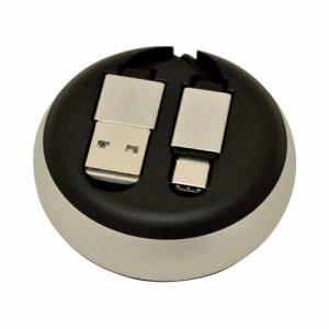 ラスタバナナ R08CAC2AR01SV Type-C USB スマホ/タブレット用巻き取りケーブル