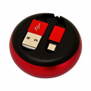 ラスタバナナ R08CAM2AR01RD microUSB スマホ/タブレット用巻き取りケーブル