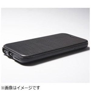 DEFF iPhone 6 Plus用 Carbon Fiber & Genuine Leather Case ブラック DCSIP6PLCABK