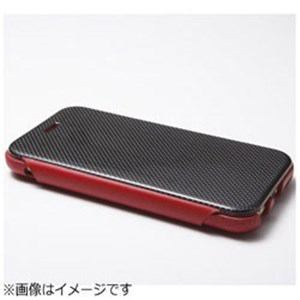 DEFF iPhone 6 Plus用 Carbon Fiber & Genuine Leather Case レッド DCSIP6PLCARD