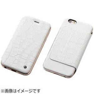 DEFF iPhone 6s Plus/6 Plus用 Hybrid Case UNIO Leather クロコ型押ホワイト+ローズゴールド DCS-IP6SPAGLFRGWH