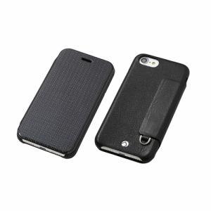 DEFF iPhone 7 Plus用 RONDA Carbon &Spanish Leather Case カーボンフリップタイプ ブラック DCS-IP7PRAFCLBK