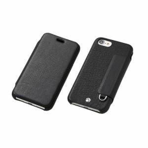 DEFF iPhone 7 Plus用 RONDA Spanish Leather Case フリップタイプ ブラック DCS-IP7PRAFSLBK