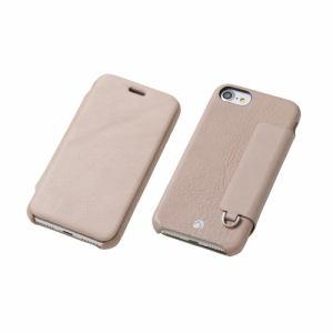 DEFF iPhone 7 Plus用 RONDA Spanish Leather Case フリップタイプ グレージュ DCS-IP7PRAFSLGE