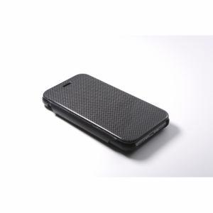 DEFF iPhone 7用 RONDA Carbon &Spanish Leather Case カーボンフリップタイプ ブラック DCS-IP7RAFCLBK