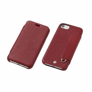 DEFF iPhone 7用 RONDA Spanish Leather Case フリップタイプ ボルドー DCS-IP7RAFSLBD
