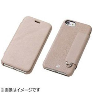 DEFF iPhone 7用 RONDA Spanish Leather Case フリップタイプ グレージュ DCS-IP7RAFSLGE