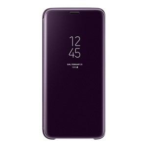 サムスン EF-ZG960CVEGJP Galaxy S9用 CLEAR VIEW STANDING COVER(パープル)