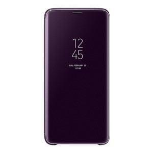 サムスン EF-ZG965CVEGJP Galaxy S9+(SC-03K/ SCV39)用 CLEAR VIEW STANDING COVER(パープル)