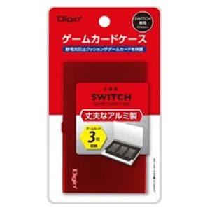ナカバヤシ MCC-SWI01R SWITCH用アルミゲームカードケース3枚入 レッド