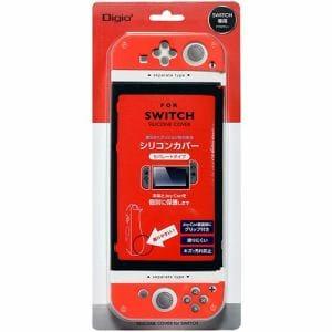 ナカバヤシ SZC-SWI06R Nintendo Switch用 シリコンカバー セパレートタイプ レッド