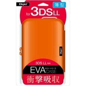 ナカバヤシ SZC-3DSLL01DD ニンテンドーnew3DSLL/new2DSLL用 薄型セミハードケース オレンジ